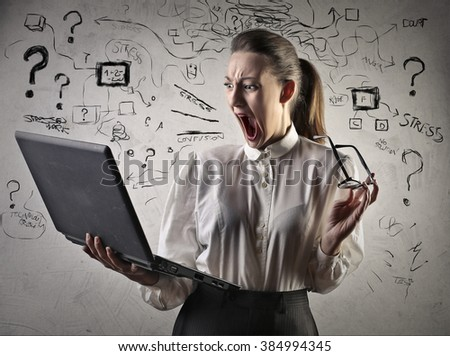 Frustrated employee - stock photo