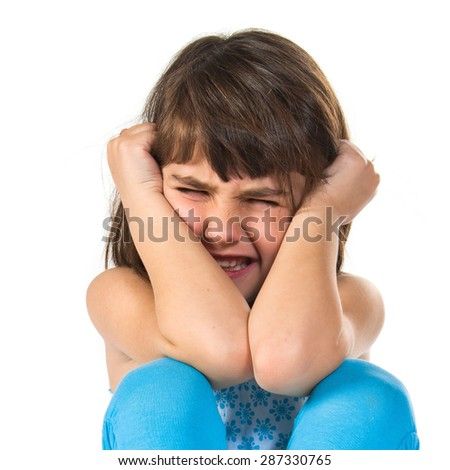Frustrated girl - stock photo