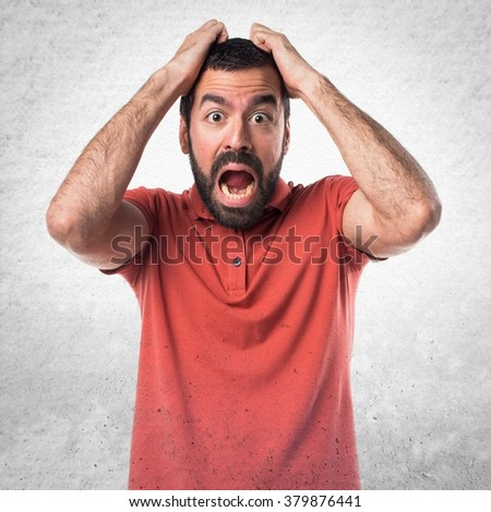 frustrated handsome man  - stock photo