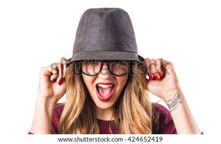 frustrated hipster young girl