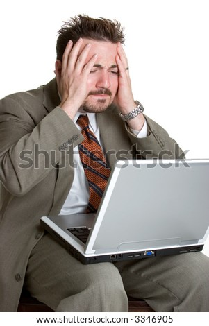 Frustrated Laptop Man