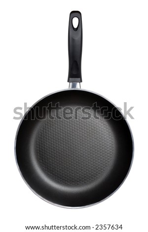 Fry pan isolated on a white background - stock photo