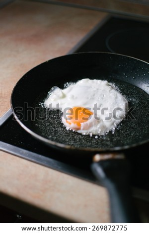 Fry the eggs in the pan