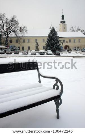 Frydek Mistek castle in Czech republic - stock photo