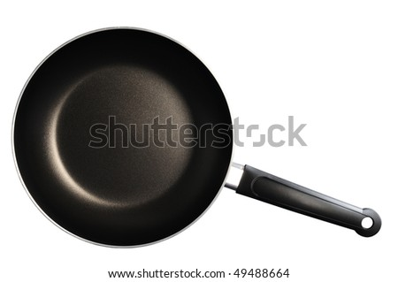 Frying pan. Isolated - stock photo