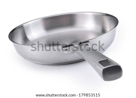 frying pan. Isolated on a white background - stock photo
