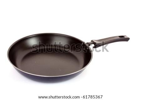 frying pan on white - stock photo