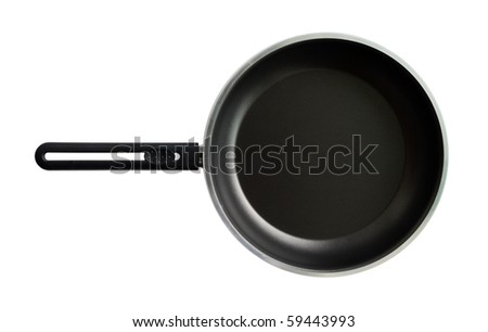 frying pan or Griddle isolated on the white background - stock photo