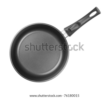 frying pan top view isolated or cutout