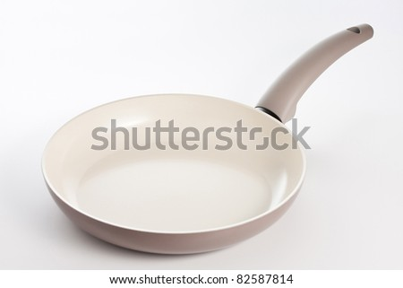 Frying pan with ceramic coating - stock photo