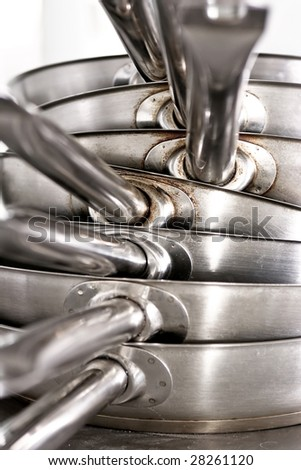 Frying pans - stock photo