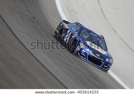 Ft. Worth, TX - Apr 07, 2016: Chase Elliott (24) practices for the Duck Commander 500 at the Texas Motor Speedway in Ft. Worth, TX.