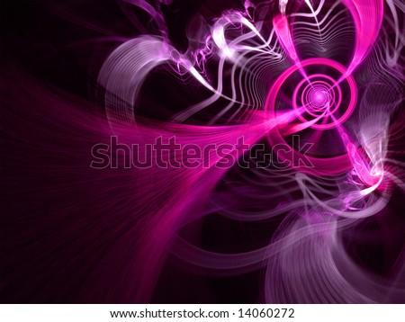 Fuchsia Lightning Spiral - Fractal Design - stock photo