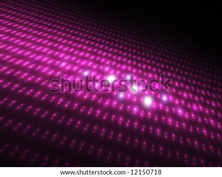 Fuchsia Orbs 3D - Fractal Design - stock photo