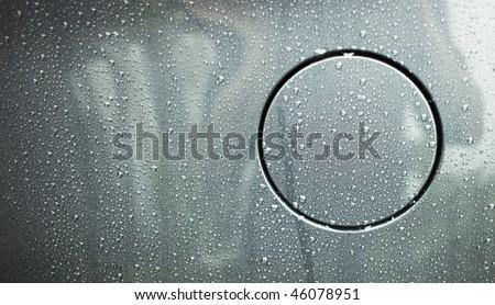 Fuel Cap with raindrops - stock photo
