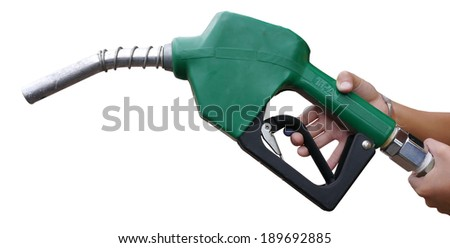 Fuel dispenser on white background.