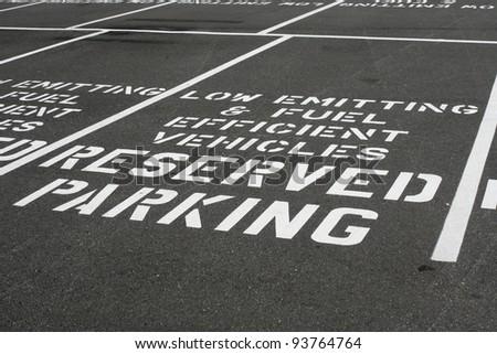 Fuel Efficient Parking - stock photo