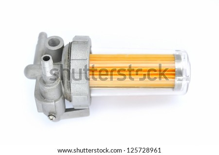 fuel filter on an isolated background - stock photo