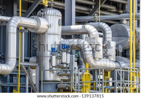 fuel gas , contaminated separator for electrical power plant - stock photo