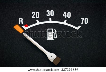 Fuel gauge low