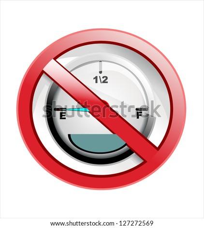 Fuel gauge sign - stock photo