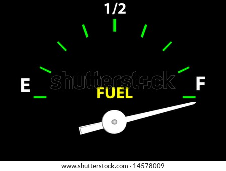 Fuel Guage (Vector image fully resizable and editable) - stock photo