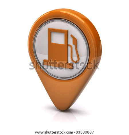 Fuel icon - stock photo