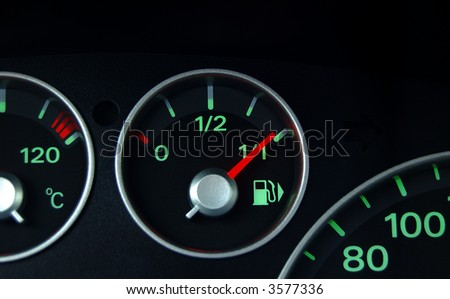 fuel indicator shows near full tank