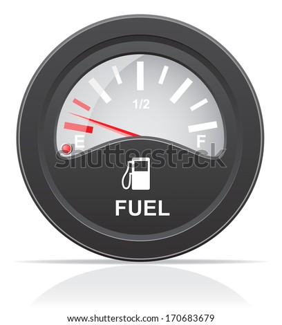 fuel level indicator illustration isolated on white background