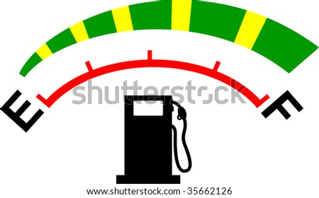 Fuel Gauge Symbol Fuel meter gauge icon or