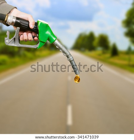 Fuel pipe, photo montage - stock photo