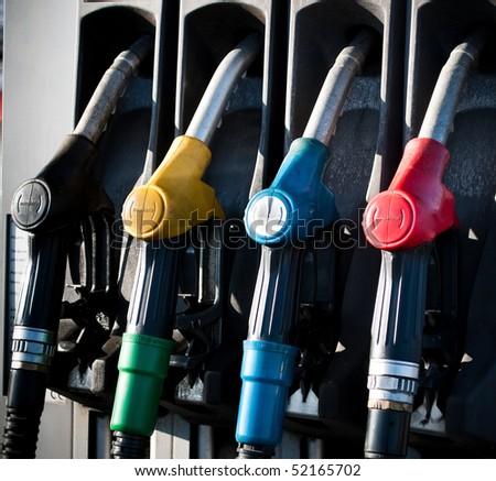 fuel pistols - stock photo