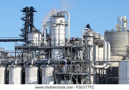 fuel production - stock photo