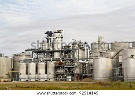 fuel production plant - stock photo