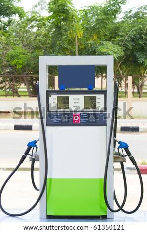Fuel pump dispensers. - stock photo
