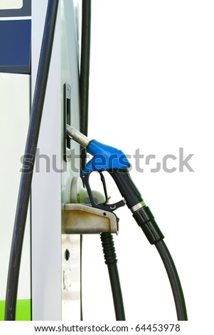 Fuel pump dispensers. - stock photo