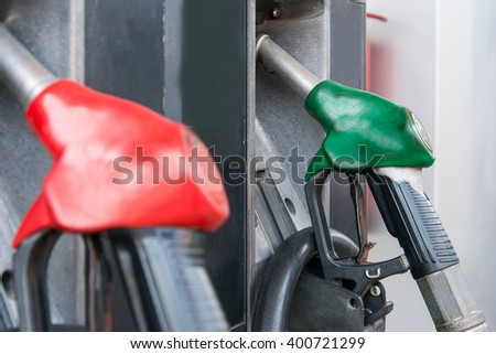 Fuel pumps petrol - stock photo