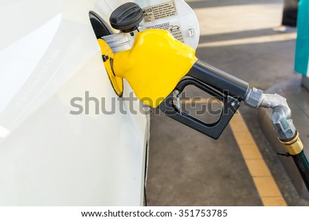 Fuel refill at gas station