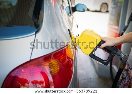 Fuel Station ,transportation self service energy concept. - stock photo