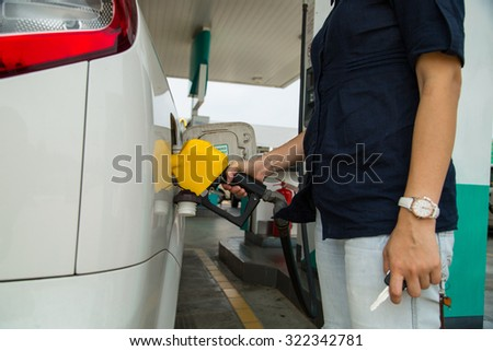 Fuel Station ,trasportation self service energy concept.
