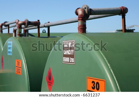 Fuel Storage Tanks - stock photo
