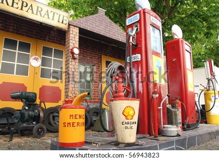fuel tank station - stock photo