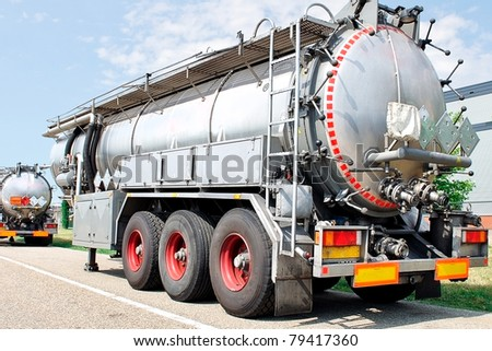 fuel tanker - stock photo