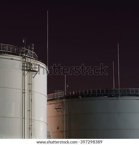 Fuel tanks in the port
