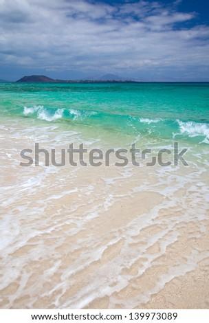 Fuerteventura, grandes playas (big beaches) arong Corralejo - stock photo