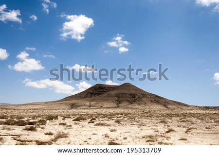 Fuerteventura Hills - stock photo