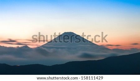 Fuji Mount, the landmark of Japan - stock photo