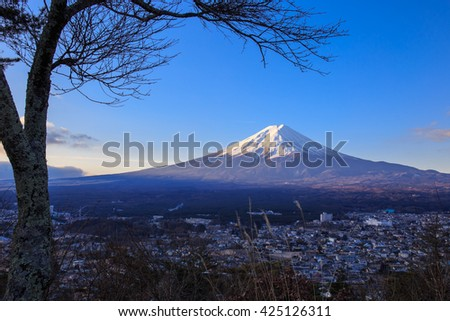 Fuji mountain in the morning.