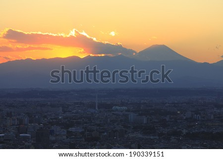 Fuji sunset and Tanzawasan system