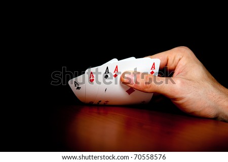 Full aces poker - stock photo